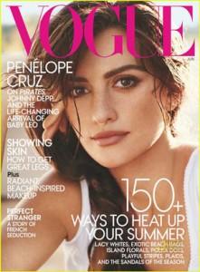 Penélope Cruz, una feliz mamá en Vogue