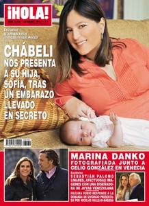 Chábeli presenta a Sofía en la revista Hola