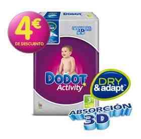 Pañal Dodot Activity 3 por 2 en Hipercor