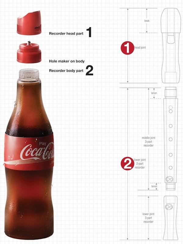 Flauta Coca Cola para niños